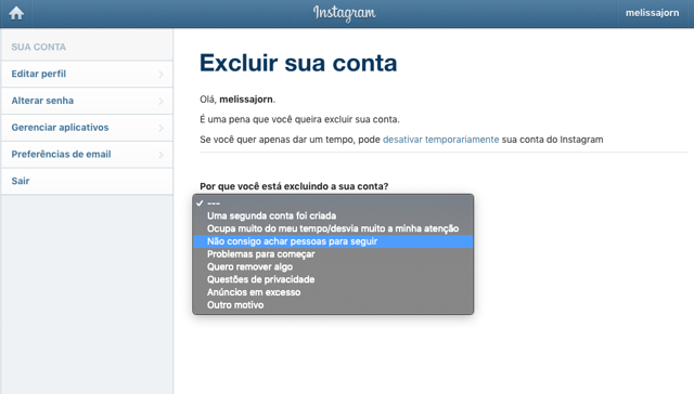 Como Apagar Sua Conta do Instagram no iPhone