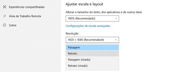 Como Ajustar, Inclinar e Girar a Tela do Windows