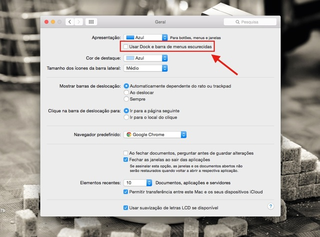 Como Alterar a Cor do Dock no OS X Yosemite (Mac)