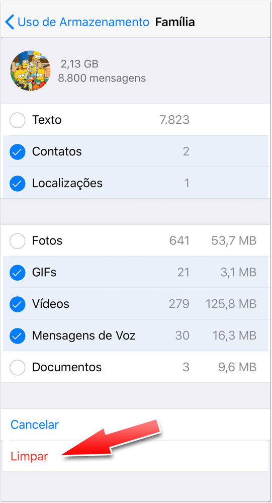 Como Apagar Backups do WhatsApp no iPhone ou iPad